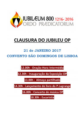 Clausura do Jubileu OP - Instituto S. Tomás de Aquino